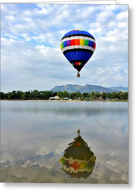 Prospects Greeting Cards - Balloon Reflection 1 Greeting Card by Diane Alexander
