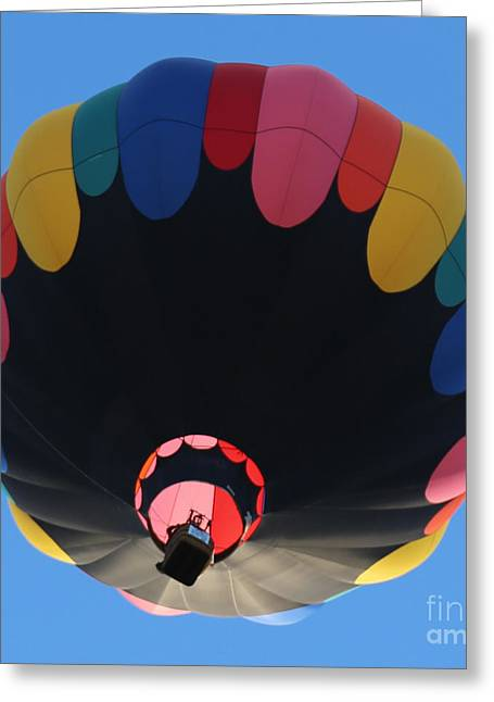 Prosser Balloon Rally Greeting Cards - Balloon Square 1 Greeting Card by Carol Groenen