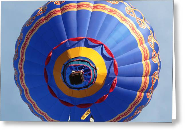 Prosser Balloon Rally Greeting Cards - Balloon Square 4 Greeting Card by Carol Groenen