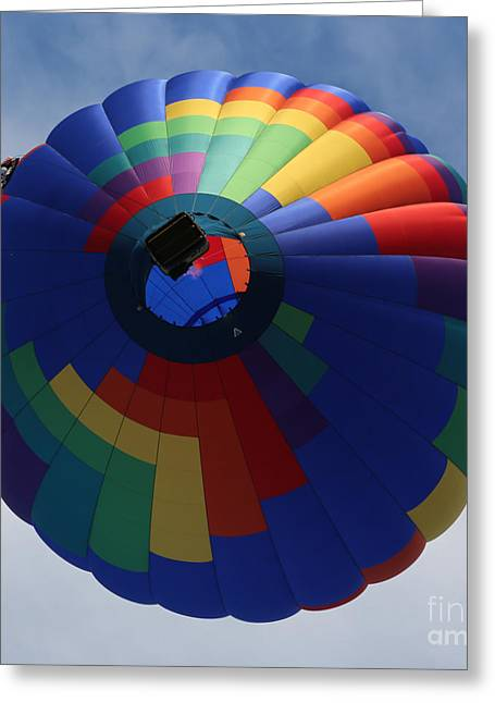 Prosser Balloon Rally Greeting Cards - Balloon Square 5 Greeting Card by Carol Groenen