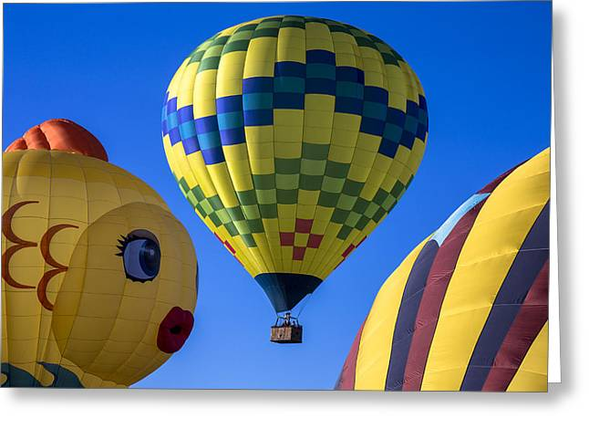 Ballooning Greeting Cards - Ballooning Greeting Card by Garry Gay