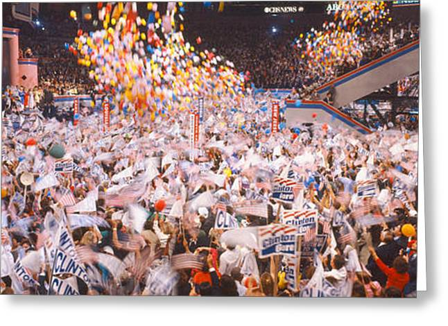 Balloons Dropping At Democratic Greeting Card by Panoramic Images