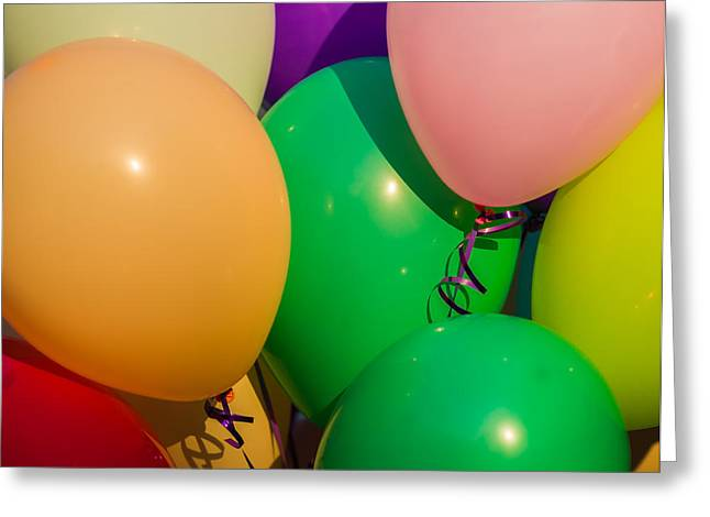 Graduation Party Greeting Cards - Balloons Horizontal Greeting Card by Alexander Senin