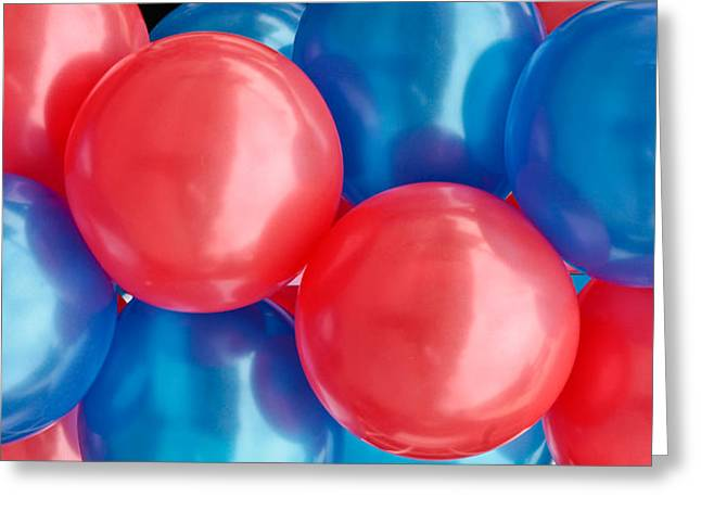 Helium Greeting Cards - Balloons Greeting Card by Tom Gowanlock