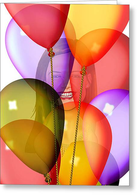 Intrigue Drawings Greeting Cards - Balloons Greeting Card by Troy Brown