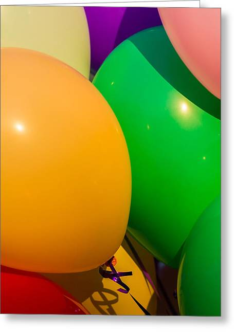 Graduation Party Greeting Cards - Balloons Vertical Greeting Card by Alexander Senin