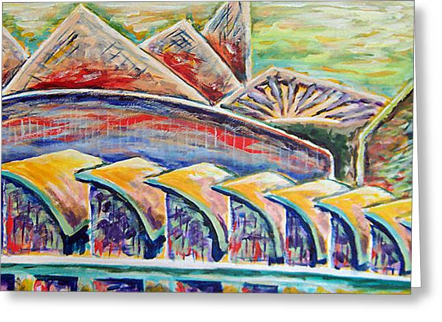 Ballpark View Greeting Card by Gregory Otvos