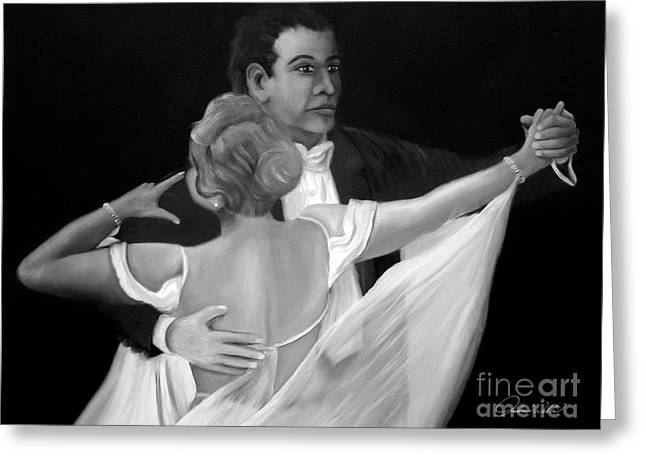 Andrew Wells Greeting Cards - The Ballroom Dancers Greeting Card by Andrew Wells