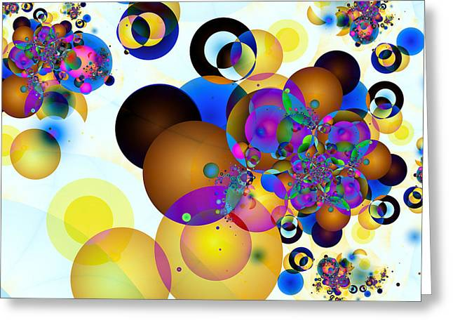 Geometric Digital Art Greeting Cards - Balls Greeting Card by Sharon Lisa Clarke