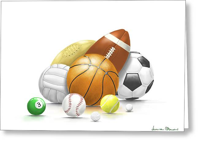 Balls Greeting Card by Veronica Minozzi