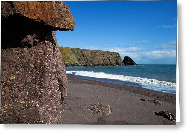 Sandy Beaches Greeting Cards - Ballydowane Beach, Bunmahon, County Greeting Card by Panoramic Images