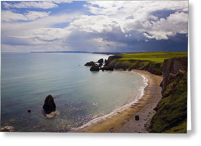 Summer Time Greeting Cards - Ballydowane Beach, Copper Coast, County Greeting Card by Panoramic Images