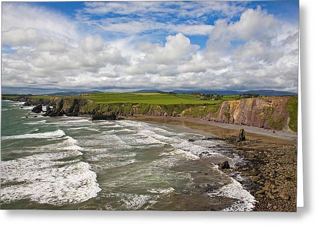 Windy Greeting Cards - Ballydowane Cove On The Copper Coast Greeting Card by Panoramic Images