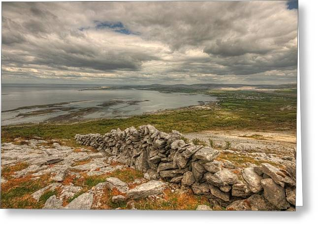 Galway Bay Greeting Cards - Ballyvaughan View 1 Greeting Card by John Quinn
