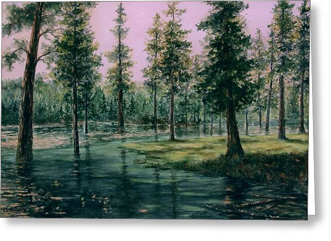 Balm Creek Reflections Greeting Card by Lynne Wright