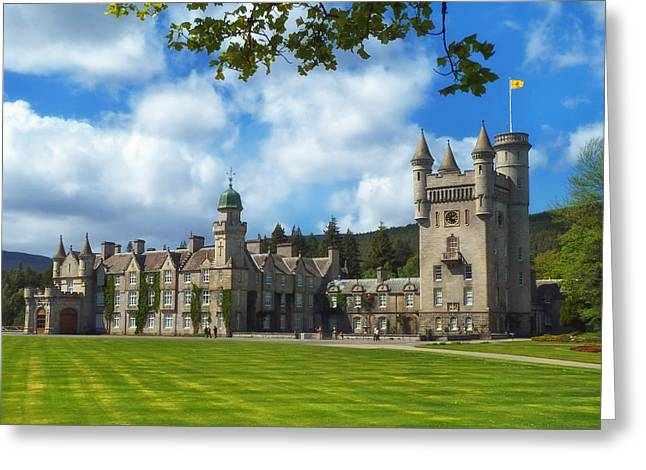 Balmoral Greeting Cards - Balmoral Castle in Scotland Greeting Card by Mountain Dreams