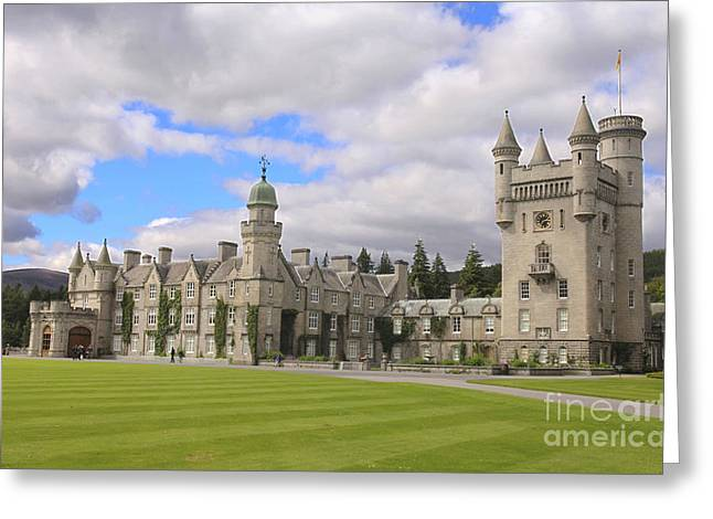 Balmoral Greeting Cards - Balmoral castle in Scotland Greeting Card by Patricia Hofmeester