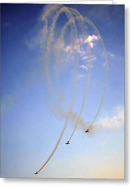 Aerobatic Greeting Cards - Baltic Bees aerobatic display team Greeting Card by Science Photo Library