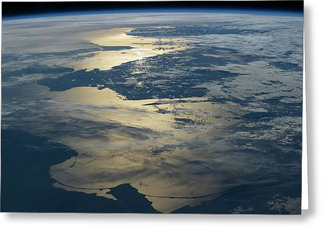 Baltic Sea Greeting Card by Nasa