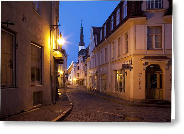 Baltic States, Estonia, Tallinn � Greeting Card by Tips Images