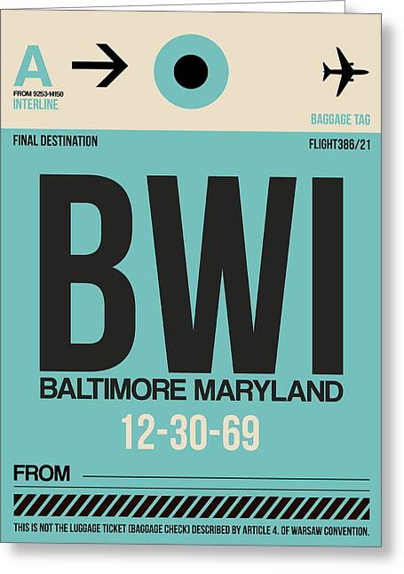 Maryland Greeting Cards - Baltimore Airport Poster 1 Greeting Card by Naxart Studio
