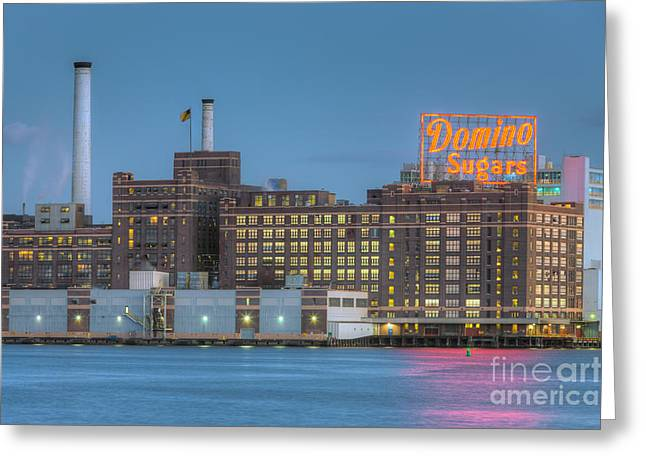 Manufacturing Greeting Cards - Baltimore Domino Sugars Plant I Greeting Card by Clarence Holmes