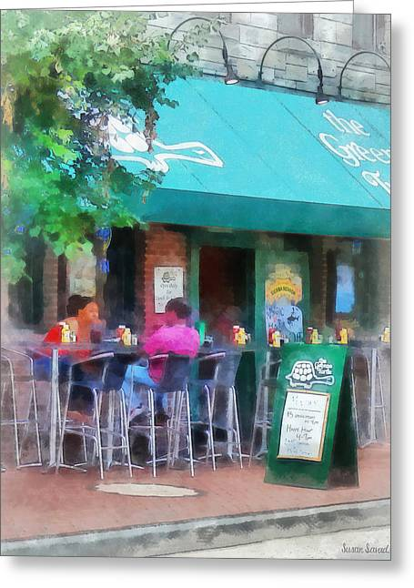 Stool Greeting Cards - Baltimore - Happy Hour in Fells Point Greeting Card by Susan Savad