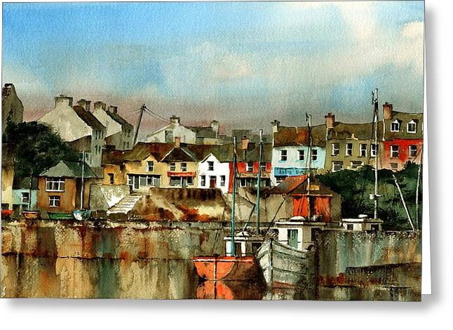 West Cork Greeting Cards - Baltimore Harbour  West Cork Greeting Card by Val Byrne