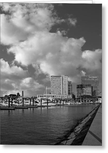 United States Of America Greeting Cards - Baltimore Inner Harbor Skyline Marina Greeting Card by Susan Candelario
