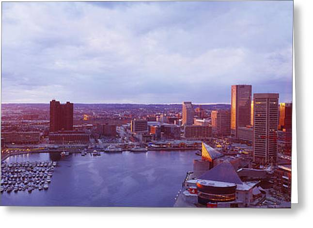 Overcast Day Greeting Cards - Baltimore Maryland Usa Greeting Card by Panoramic Images