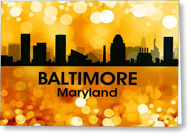 Concrete Jungle Greeting Cards - Baltimore MD 3 Greeting Card by Angelina Vick