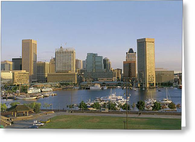 Architectural Photography Greeting Cards - Baltimore Md Greeting Card by Panoramic Images