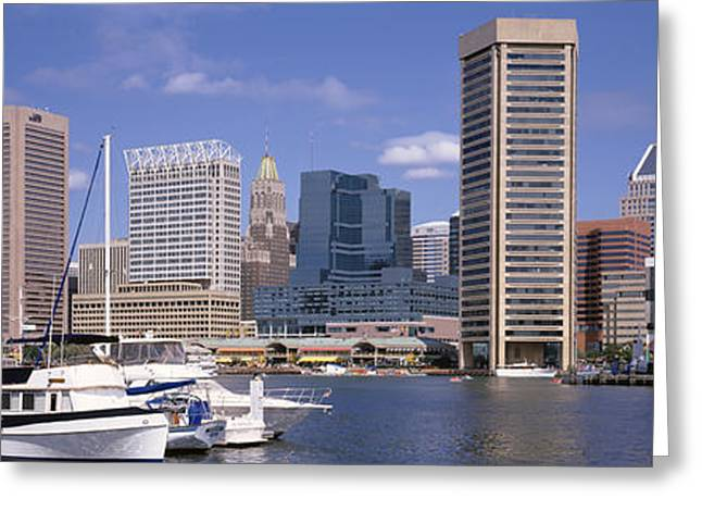 Md Photographs Greeting Cards - Baltimore Md Usa Greeting Card by Panoramic Images