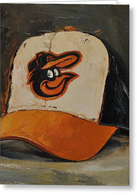 Baltimore Oriole Greeting Cards - Baltimore Orioles Greeting Card by Lindsay Frost