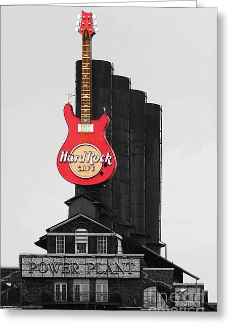 Hard Rock Cafe Building Greeting Cards - Baltimore Power Plant Greeting Card by James Brunker