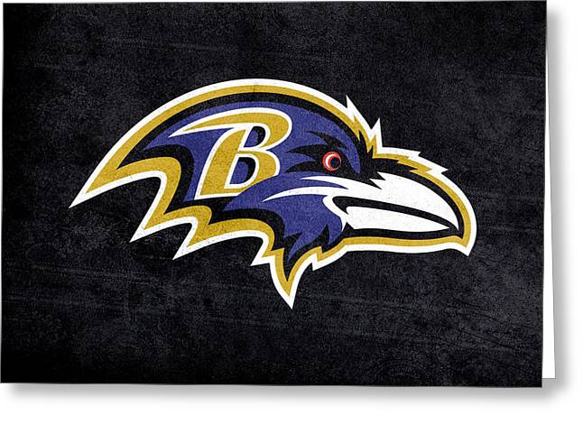 Charlotte Digital Art Greeting Cards - Baltimore ravens logo digital painting Greeting Card by Eti Reid