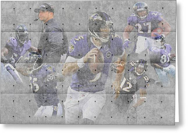 Offense Greeting Cards - Baltimore Ravens Team Greeting Card by Joe Hamilton