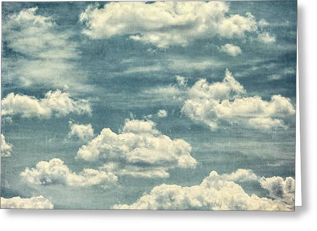 Child In Clouds Greeting Cards - Baltimore Skies Greeting Card by Lisa Russo