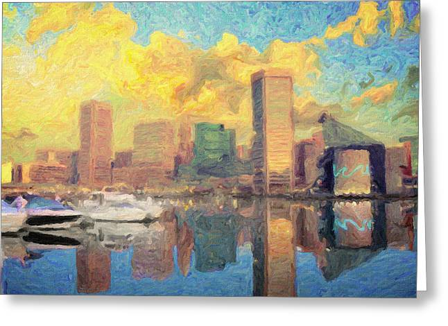 Inner Reflections Greeting Cards - Baltimore Greeting Card by Taylan Soyturk