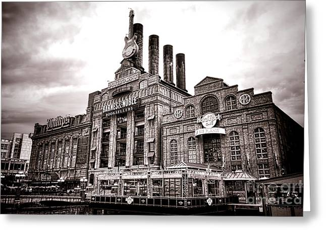 Historic City Pier Greeting Cards - Baltimore United Railways and Electric Company Greeting Card by Olivier Le Queinec