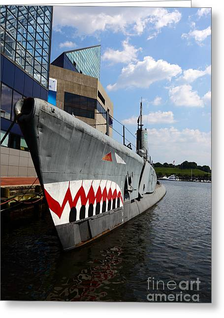 Ss Unites States Greeting Cards - Baltimore USS Torsk  Greeting Card by James Brunker
