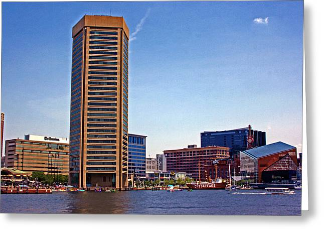 Pentagonal Greeting Cards - Baltimore World Trade Center Greeting Card by Andy Lawless