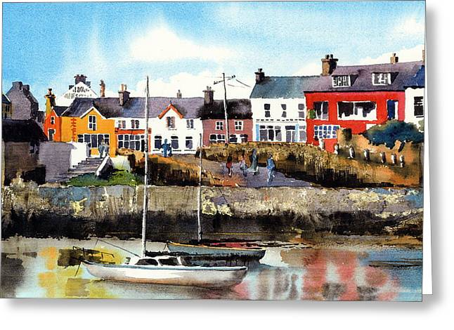 West Cork Greeting Cards - Baltimore  Yachts West Cork Greeting Card by Val Byrne