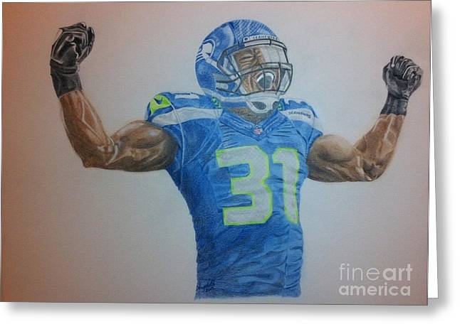 Bam Greeting Cards - Bam Bam Kam Chancellor Greeting Card by Angela Q
