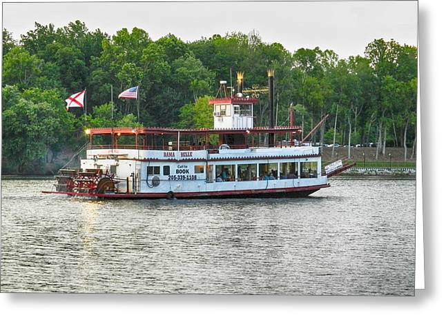 University Of Alabama Greeting Cards - Bama Belle on the Black Warrior River Greeting Card by Ben Shields