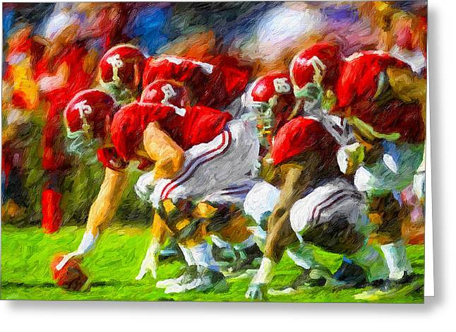 Sec Paintings Greeting Cards - Bama Line Greeting Card by John Farr