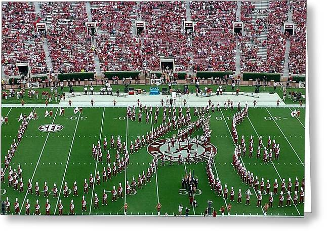 Bryant Denny Greeting Cards - Bama Script A Greeting Card by Kenny Glover