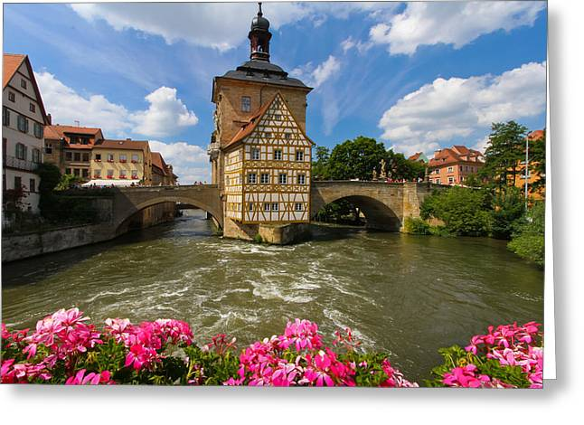Bamberg Bridge Greeting Card by Jenny Setchell