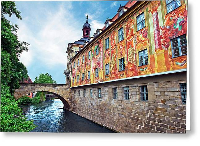 Bamberg, Germany , The Town Hall (altes Greeting Card by Miva Stock