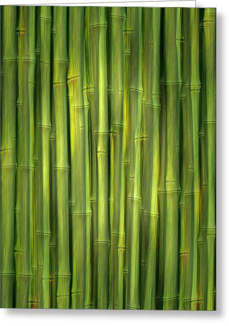 Home Decor Greeting Cards - Bamboo Decor Greeting Card by Home Decor